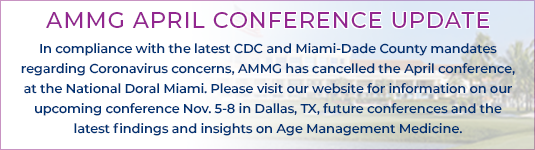 AMMG 28th Clinical Applications for Age Management Medicine