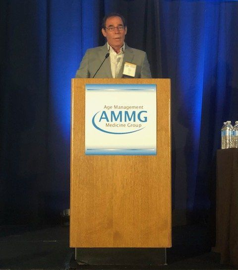 Mark Gordon MD making acceptance speech at AMMG Conference