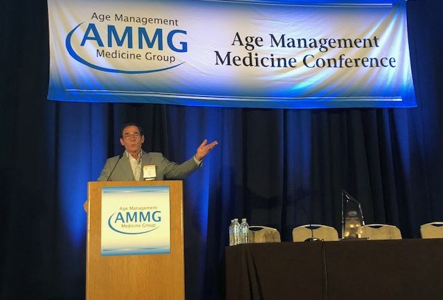 Mark L. Gordon, M.D. accepting the 2th Annual Alan P. Mintz, M.D. Award for Clinical Excellence in Age Management Medicine